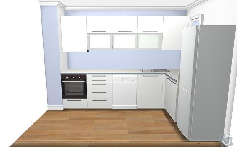 Dokončení montáže kuchyně IKEA: ikea-kuchyn-3D