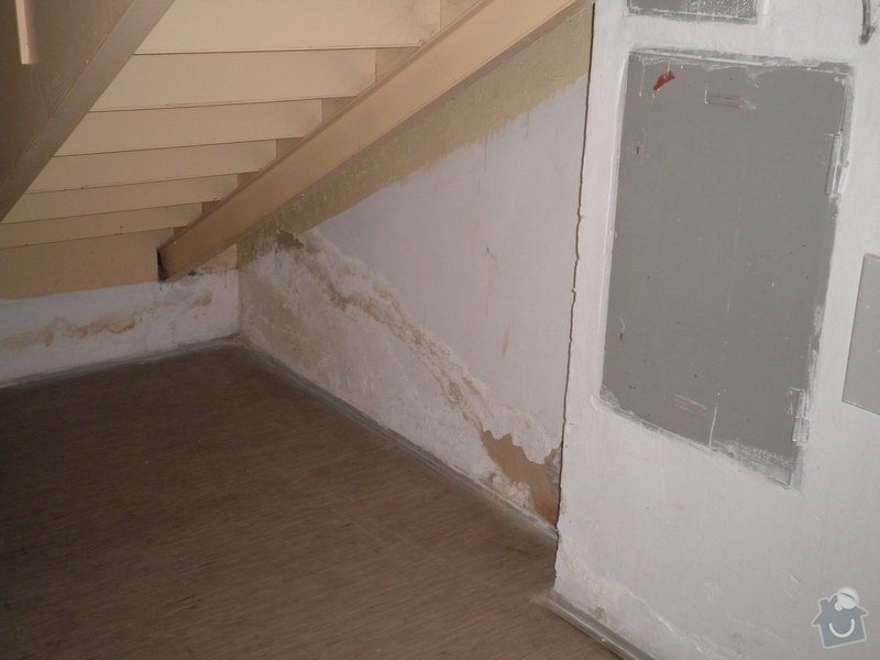 Opravy omítek v suterénu dvou domů: P9221645