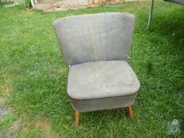 Potažení křesel (2+4) a židlí (25): kreslo