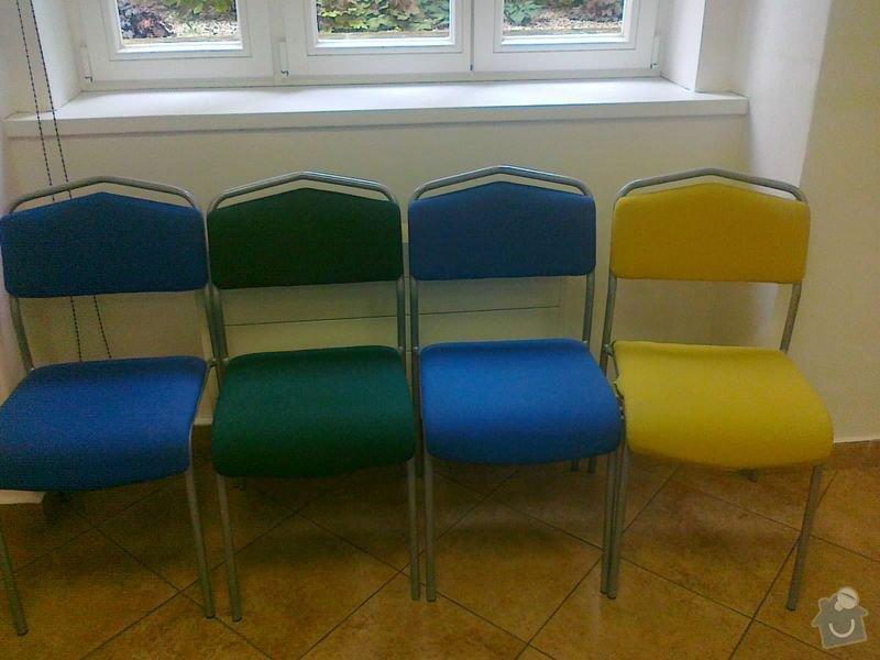 Potažení křesel (2+4) a židlí (25): zidle