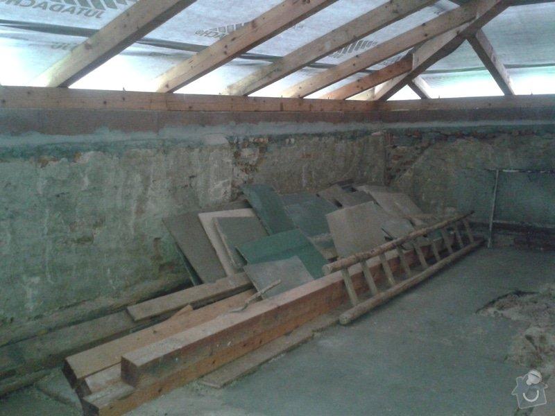 Rekonstrukce stanové střechy rodinného domu: 20140724_180008