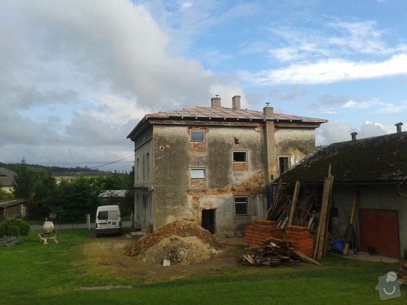Rekonstrukce stanové střechy rodinného domu: 20140724_182121