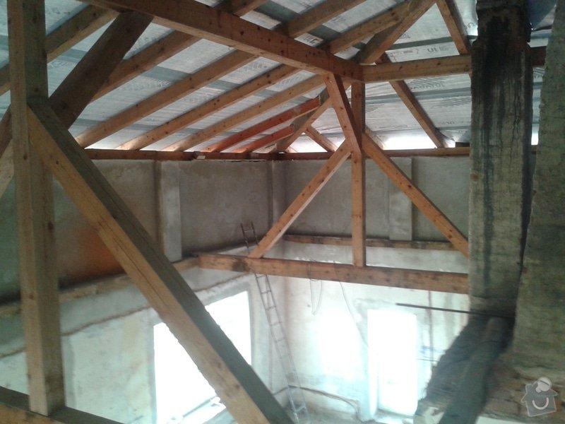Rekonstrukce stanové střechy rodinného domu: 20140805_184046