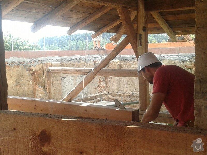 Rekonstrukce stanové střechy rodinného domu: 20140707_123658