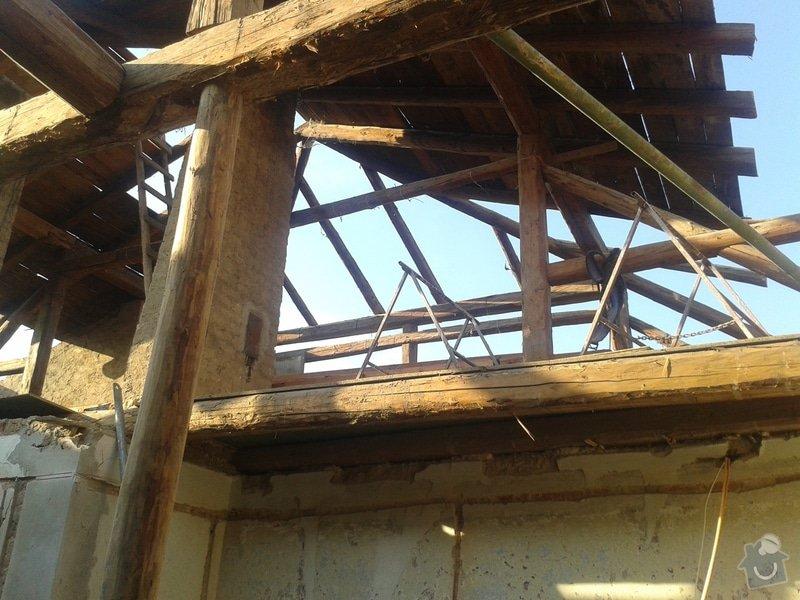 Rekonstrukce stanové střechy rodinného domu: 20140707_184920