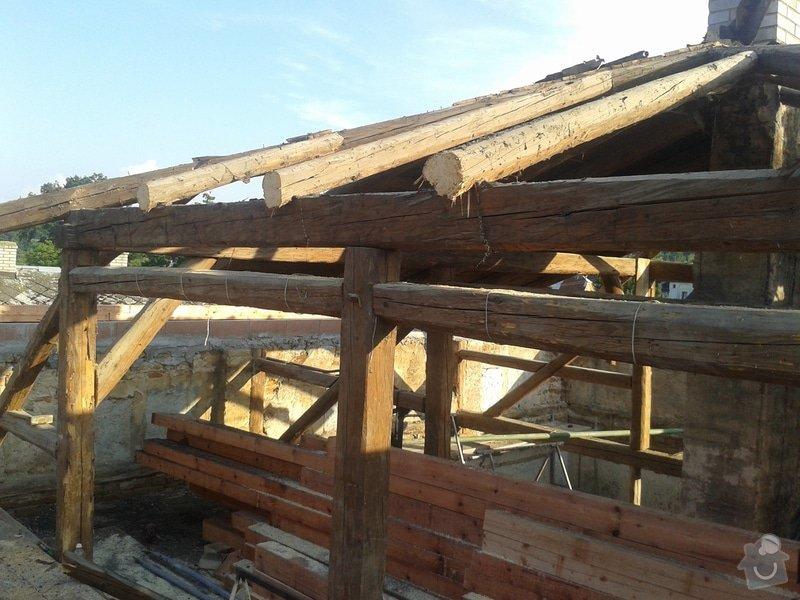Rekonstrukce stanové střechy rodinného domu: 20140707_185018