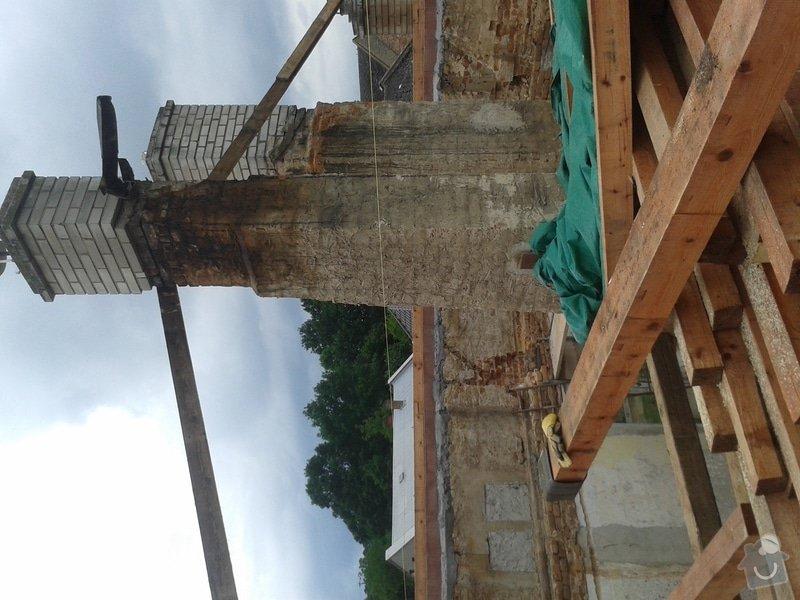 Rekonstrukce stanové střechy rodinného domu: 20140709_170233