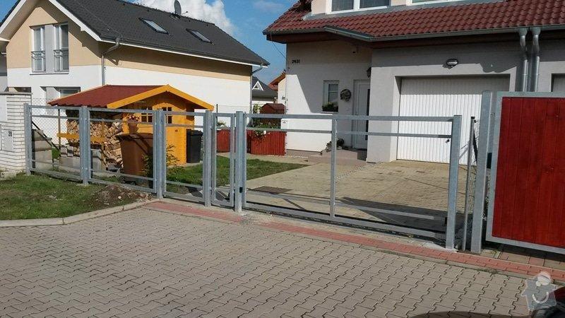 Výroba a montáž konstrukce plotu: 20140922_152524