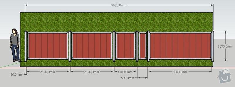 Výroba a montáž konstrukce plotu: celni_pohled