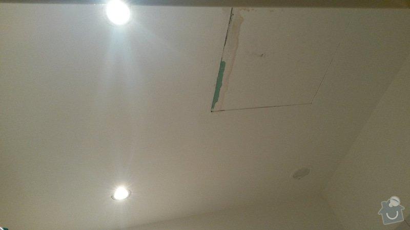 Drobná zakázka pro sádrokartonáře - podhled v koupelně: 20140926_210858