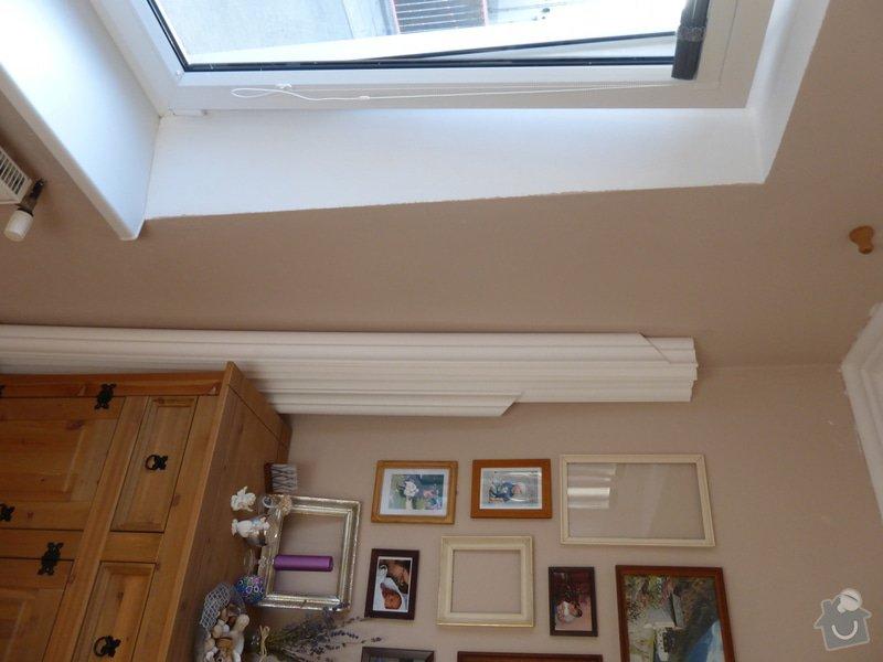 Nalepení polystyrenových stropních lišt: P1000823