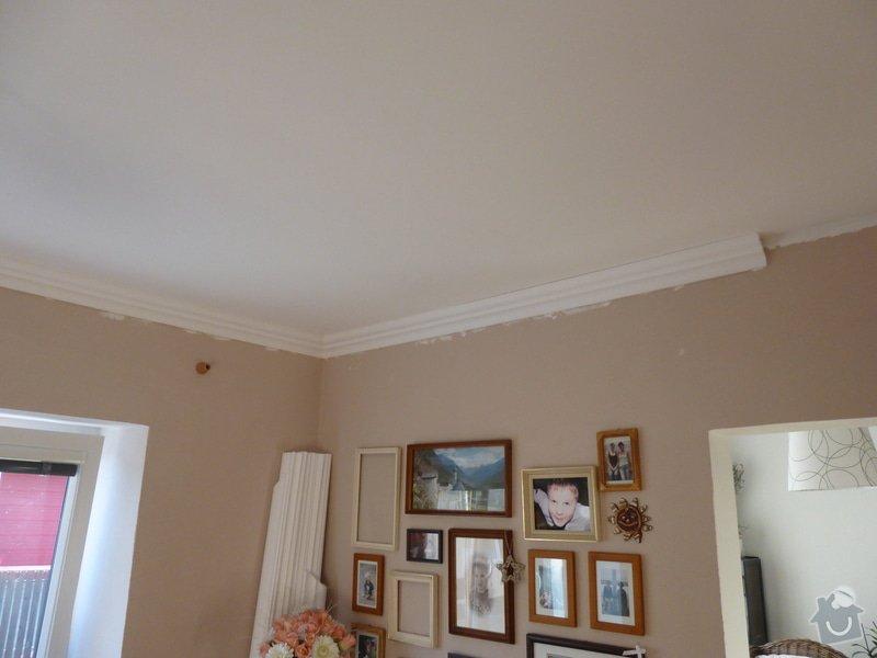 Nalepení polystyrenových stropních lišt: P1000821