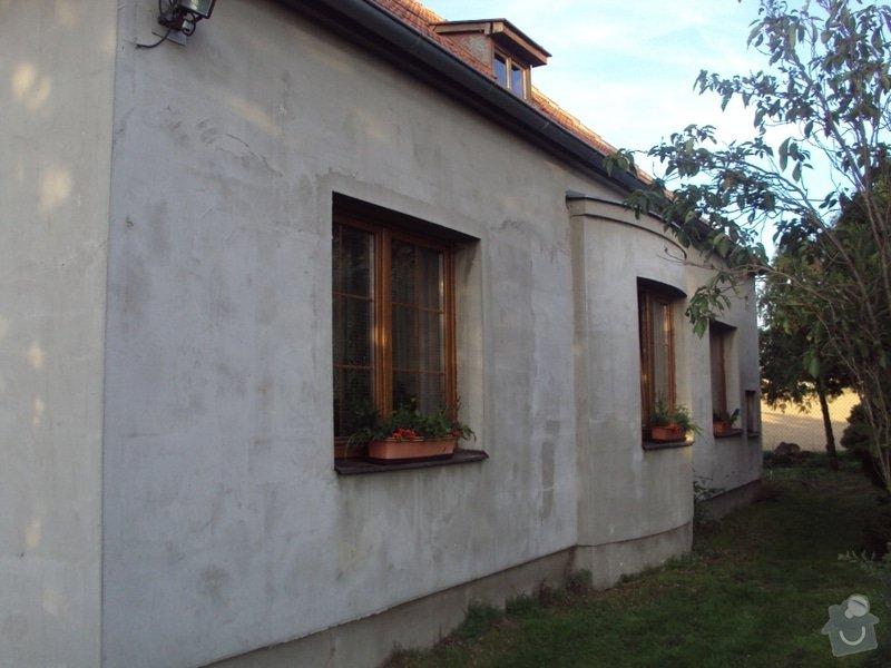 Potažení polyesterového zateplení domu lepidlem: DSC08675
