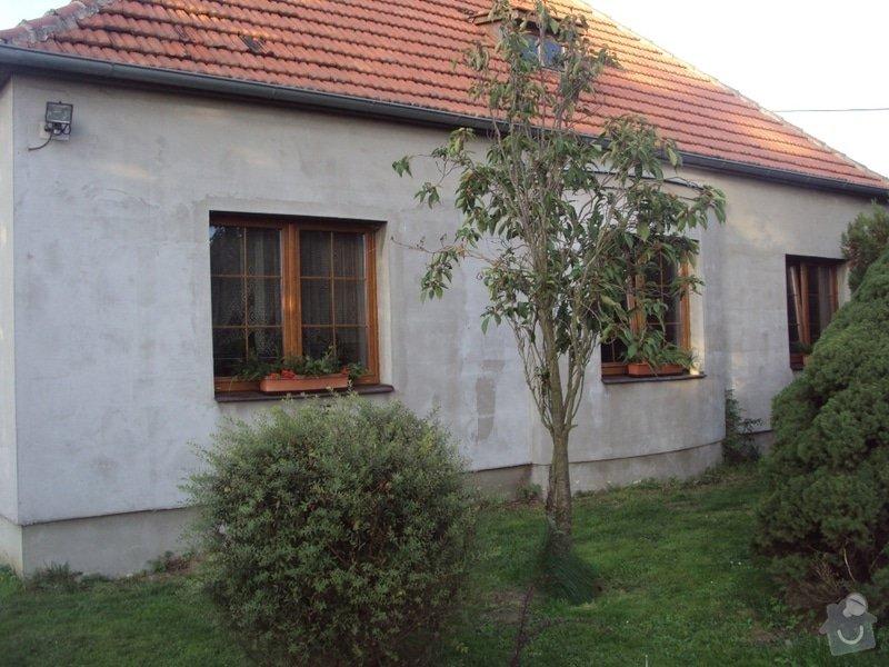 Potažení polyesterového zateplení domu lepidlem: DSC08676