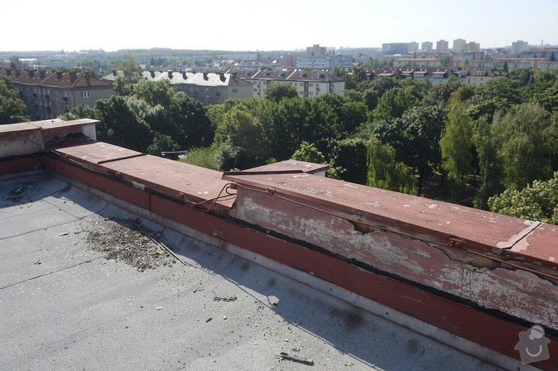 Drobné zednické opravy omítek atikových zdí a stěn šachet na ploché střeše: objekt2197-18