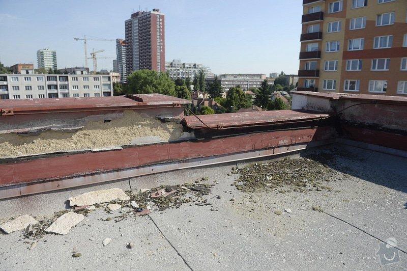 Drobné zednické opravy omítek atikových zdí a stěn šachet na ploché střeše: objekt2197-29