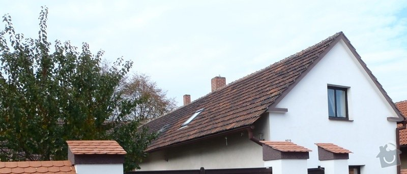 Rekonstrukce střechy s plány pro příčky v podkroví: 1