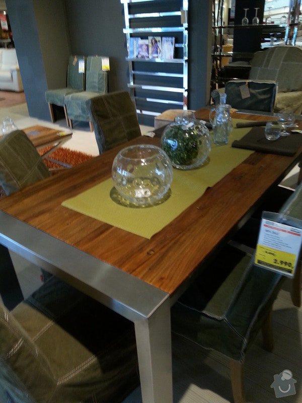 Nábytek na míru do obývacího pokoje, jídelny a chodby: stul_kov_1
