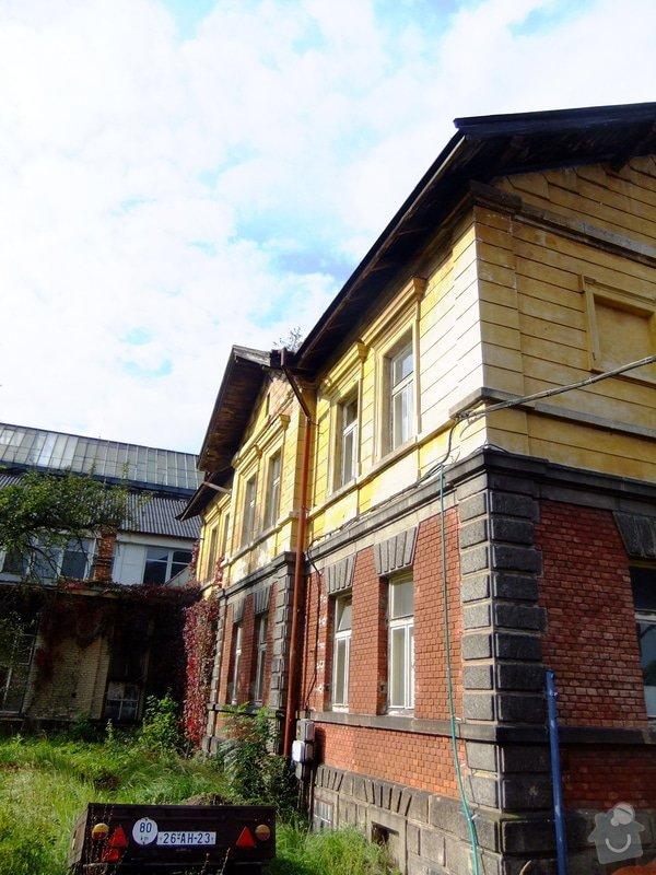 Střechu, rekonstrukci ubytovny: Jana_Pernera_c.p._159_1_