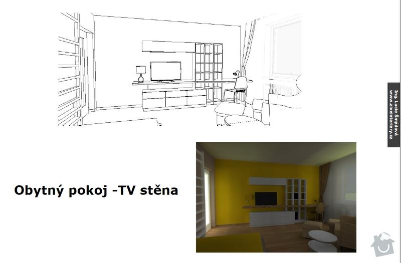 Návrh obytného pokoje: stena1