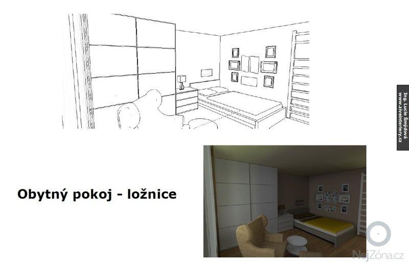 Návrh obytného pokoje: stena2