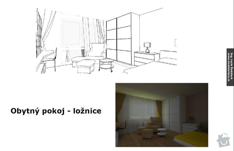 Návrh obytného pokoje: stena3
