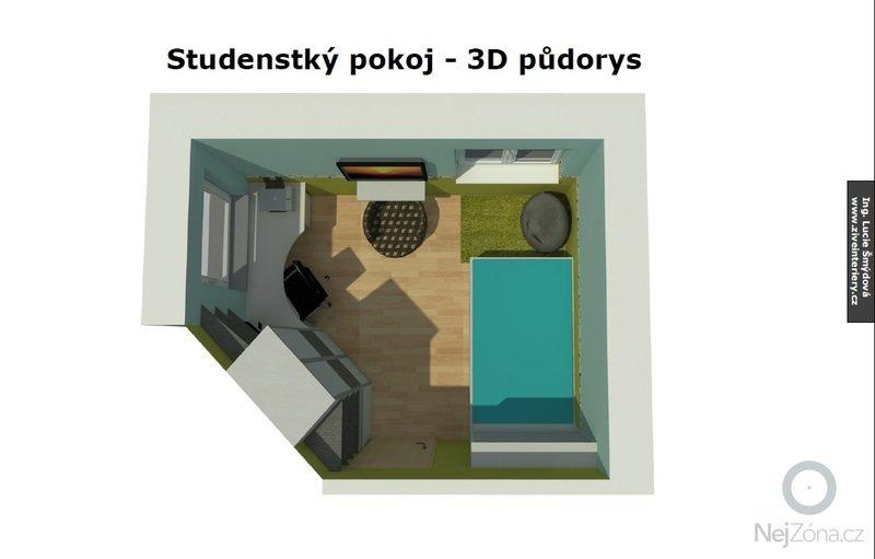 Návrh studentského pokoje: studenstky_pokoj