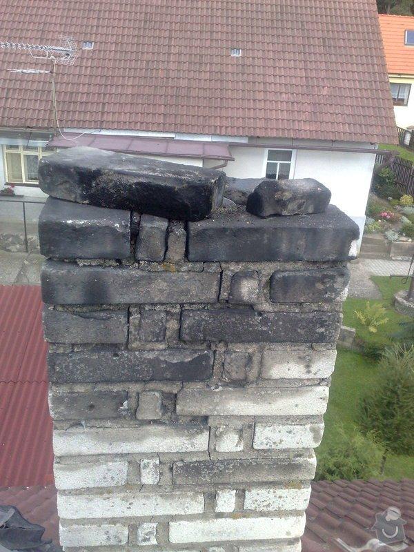 Vyvložkování komína: nadsteska_pred