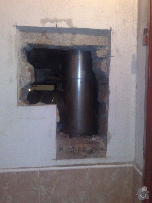 Vyvložkování komína: pripojeni_na_komin_bourano_z_koupelny