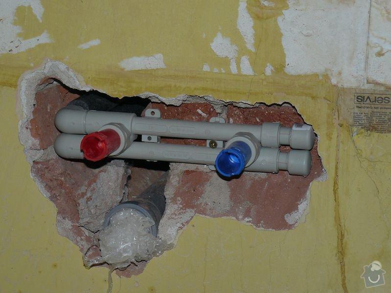 Výměna bojleru, rozvody vody v koupelně, : koupelna_Holesovice6nova