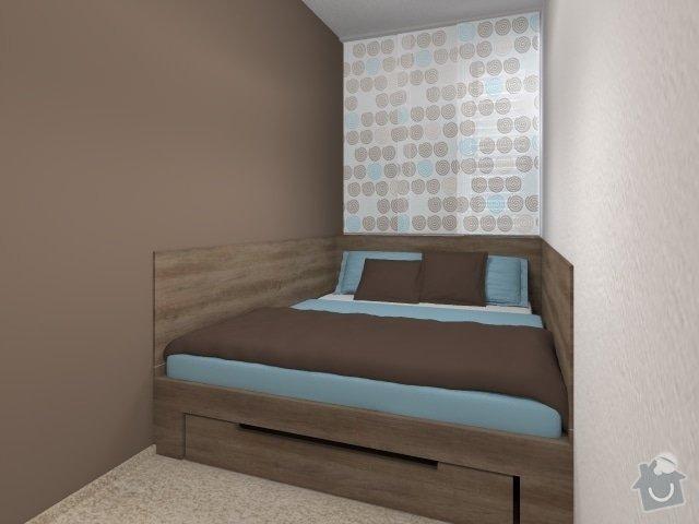 Návrh velmi malé ložnice: 1_mala_utulna_loznice_modra