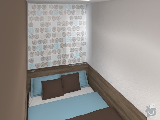 Návrh velmi malé ložnice: 2_mala_utulna_loznice_modra