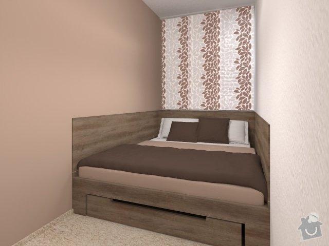 Návrh velmi malé ložnice: 4_mala_utulna_loznice_hneda