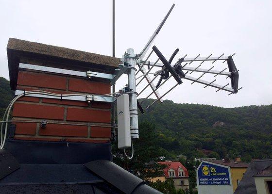 Instalace televizní a wifi antény.
