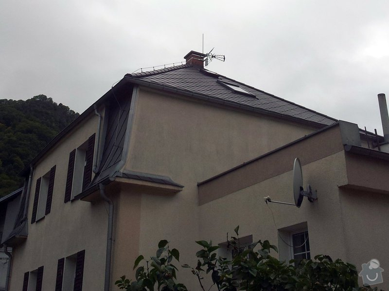 Instalace televizní a wifi antény.: 20140926_153058