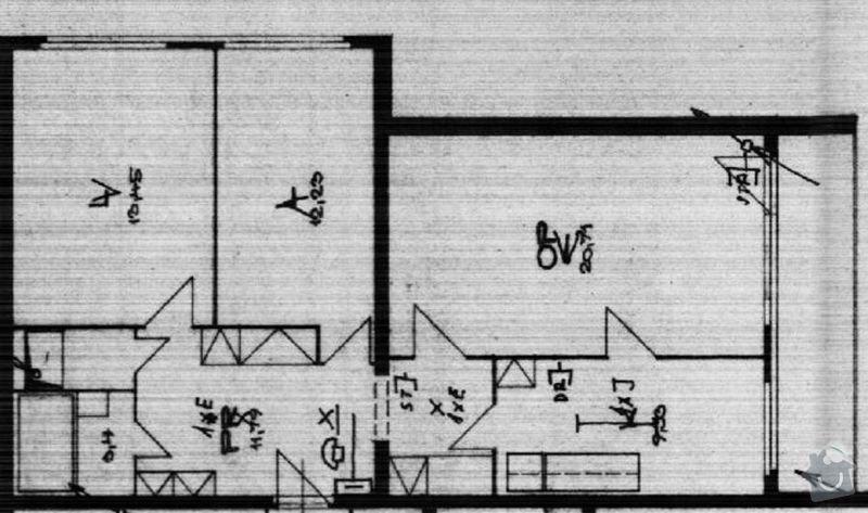 Rekonstrukce bytu - bezbariérové řešení: Planek_bytu