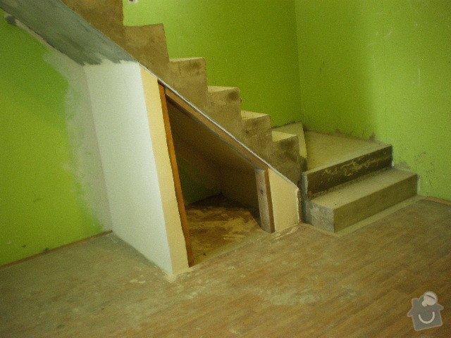 Dřevěné zábradlí + obklad schodů: PA030038