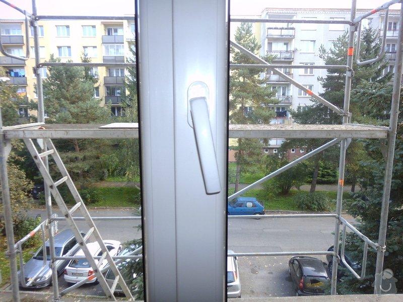 Výměna klik u plastového akna a u plastových dveří za kliky se zámkem: okno_-_profil