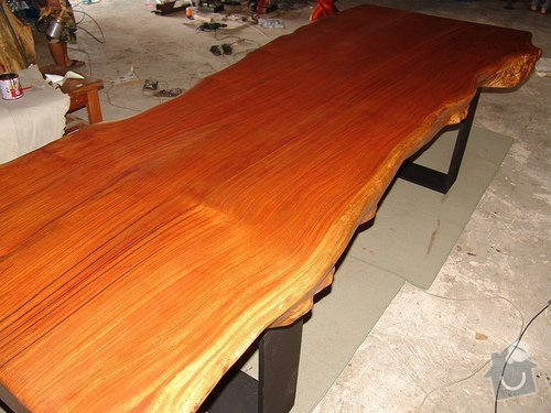 Výroba stolů, dveří a 2 lavic + řežbářství: Dining_Table_Solid_Rosewood_Single_Free_Form