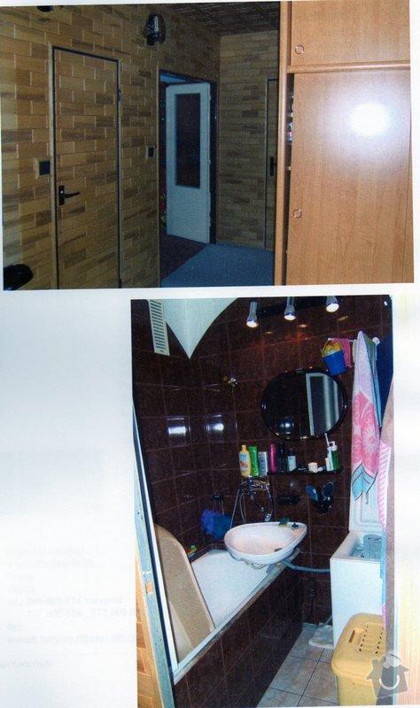 Rekonstrukce panelového bytu: chodba_koupelna