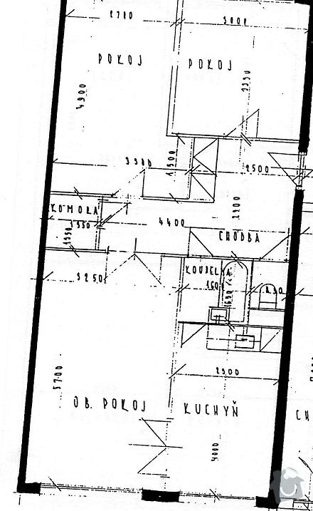 Rekonstrukce panelového bytu: nakres_bytu