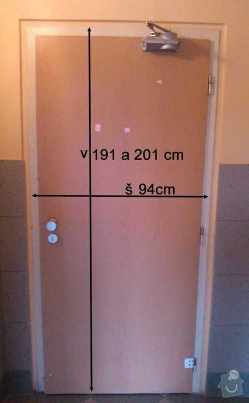 Výměna 2x vnitřních dveří v panel.domě (viz přílohy): DvereHorniU