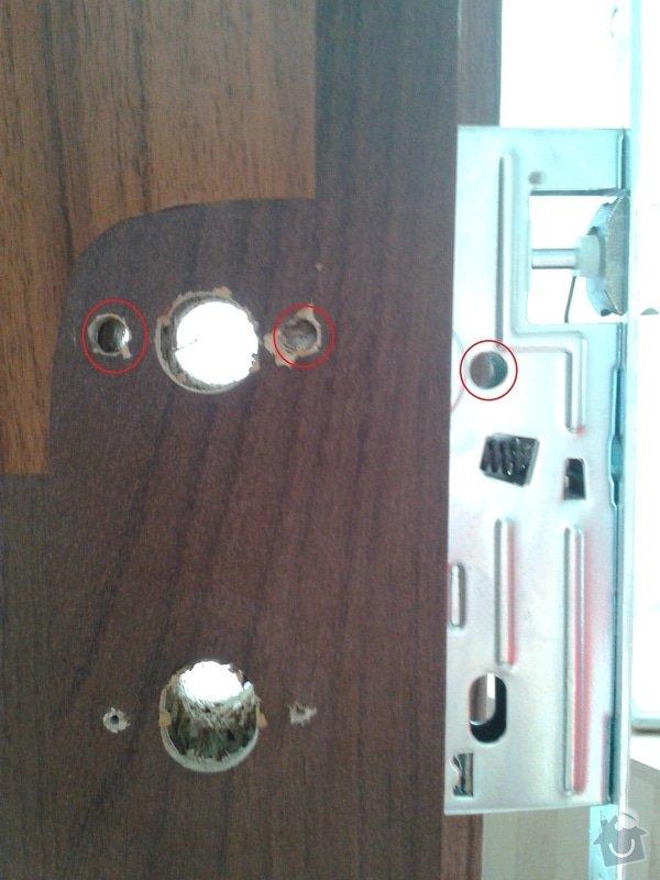 Truhláře - drobná práce na interiorových dveří : zamek