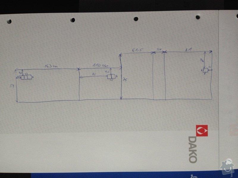 Montaz pracovní a obkladové desky do stávájící kuchynske linky : OBKLAD