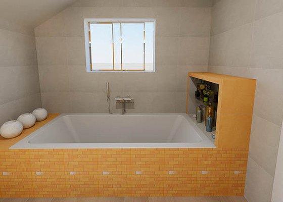 Dvě moderní koupelny v novostavbě RD - návrh