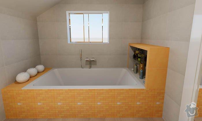 Dvě moderní koupelny v novostavbě RD - návrh: 02_moderni_zluta_koupelna_2