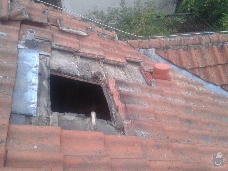 Kontrola a drobné opravy střechy: 20141004_081455