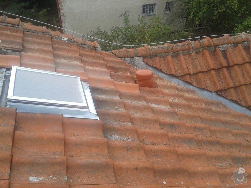 Kontrola a drobné opravy střechy: 20141004_092041