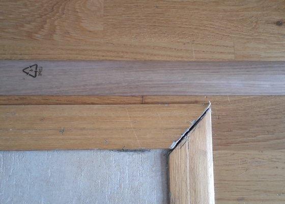 Výměna 2x lišt podlahy