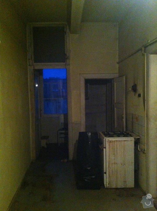 Rekonstrukce bytu 2+kk 65m2, zbourání dvou příček a vystavení nových, nová elektrina, rozvody plynu a topení: IMG_4947